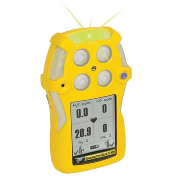Picture of BW QT-XWHM-R-Y-UK Gas Alert Quattro Multi Gas Personal Detector