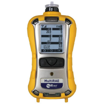 Product featured is the MultiRAE Lite-Pumped / 10.6 eV PID / LEL / CO + H S / SO / O / Li-ion / Non- Wireless/Unit with Accessories / Confined Space Kit (no gas or regulator)