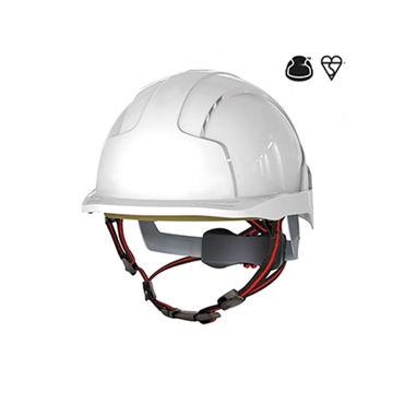 Picture of JSP AJS260-000-100 EVOLite Skyworker Industrial Climbing Helmet - White