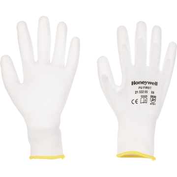 Picture of Honeywell PU 1st White Nylon Knitted Gloves