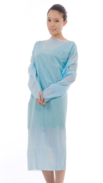 Picture of Chemsplash CPE Long Sleeved Apron W/ Thumb Loops - Pack of 100