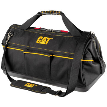 """Picture of CAT 20"""" Tech Wide Mouth Tool Bag"""