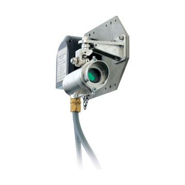 02104-N-4024 Excel line-of-sight gas detection system, medium range (40 to 120m), 4 to 20mA (source) and Modbus outputs, ATEX/IECEx, fully wired with flexible conduit, electro polished 316SS. Includes Tx, Rx, 2 x Ex e junction boxes with M20/M25 cable entries, 316SS mounting plates, brackets and hardware