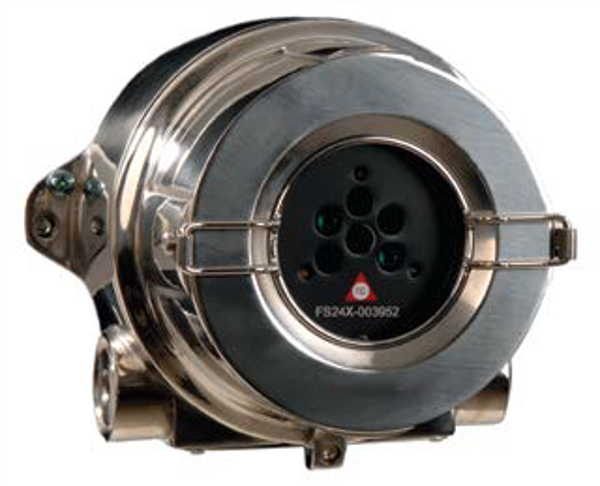 """FS20X-211-21-2 DUAL IR/UV FLAME DETECTOR Copper-Free Aluminium Encl. with (2) ¾"""" NPT entries, FM, cFM for Class I, Division 1, Groups A, B, C, D; Class II, Division 1, Groups E, F, G; Class III with FSX-A014 Optional HART Module for FS20X Detectors Factory installed."""
