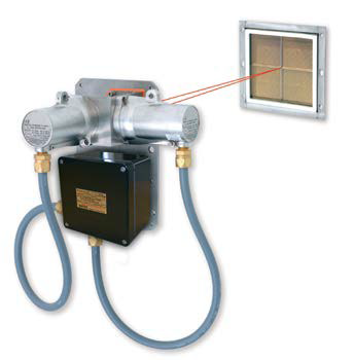 2104N1010 Excel cross-duct gas detection system, short range (0.5 to 2.5m), 4 to 20mA (source) and Modbus outputs, UL, fully wired with flexible conduit, electro polished 316SS. Includes detection block, single tile heated reflector panel and 316SS mounting plate. Methane calibration only. Note Duct Mounting Kit [2440K0004] must be ordered separately.