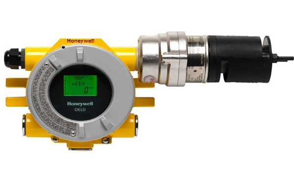 """Optima Plus Gas Detector, hydrocarbon version, 4 to 20mA output, FM/CSA, 3/4"""" NPT thread spigot, electro polished 316SS, includes polyester mesh dust barrier, nylon weather protection housing and LNP Faradex deluge/sunshade"""
