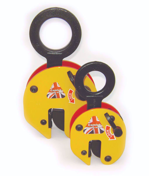 Camlok CZ 'Heavy Duty' Vertical Plate Clamps W/ Link & Chain