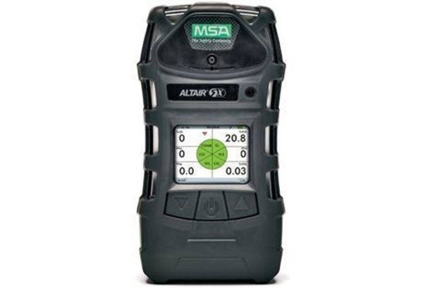ALTAIR 5X Color Display, Charcoal Case, Wireless, Methane 0-100% LEL (0-4.4% Vol)  O2 0 -30% Vol, CO 0-1999 ppm & H2S 0-200 ppm, Carbon Dioxide (CO2) 0-10 %/vol