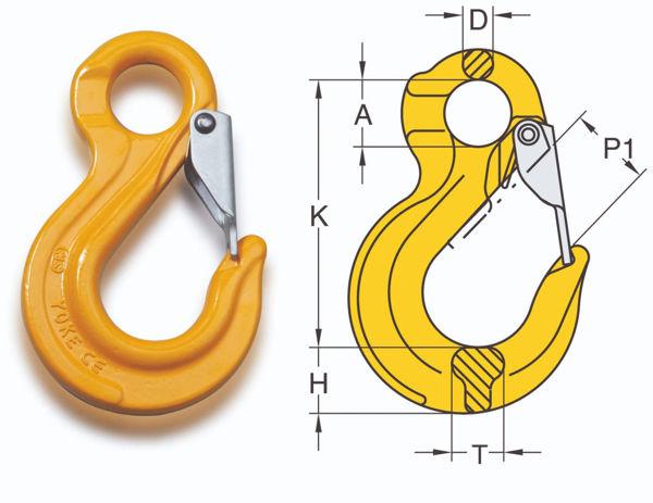 William Hackett Grade 8 Eye Sling Hook W/ Latch