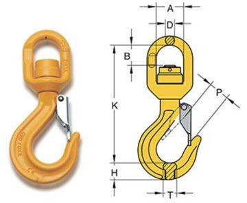 William Hackett Grade 8 Swivel Sling Hook W/ Ball Bearing