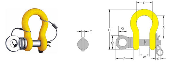 William Hackett ROV Anchor Shackle W/ Safety Pin