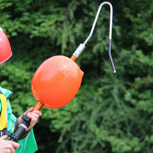 Inflatable Buoy Reach Pole Attachment