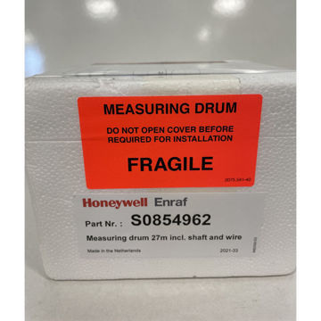 Measuring drum 27m incl. shaft and AISI316 wire